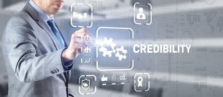 Credibility improvement. Modern business solution concept Banque d'images