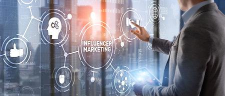 Influencer marketing concept. Business Internet concept Banque d'images