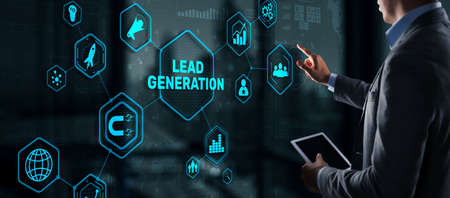 Lead Generation. Finding and identifying customers for your business products or services 免版税图像