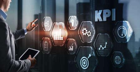 KPI Key Performance Indicator Business Internet Technology Concept on Virtual Screen Stock fotó