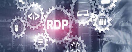 Remote desktop protocol. Networking internet technology concept 版權商用圖片