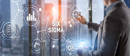 Six Sigma. Management concept aimed at improving the quality of work of an organization or a separate unit 版權商用圖片