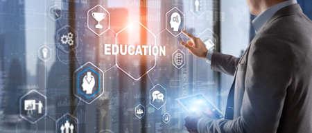 E-learning Education Webinar Online concept. Business Technology 版權商用圖片