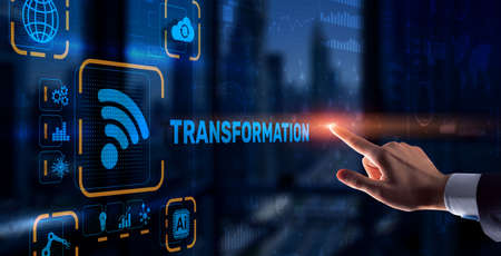 Business Digital Transformation. Future and Innovation Internet and network concept. Technology background