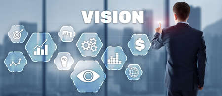 Vision Business Finance Concept on Virtual screen