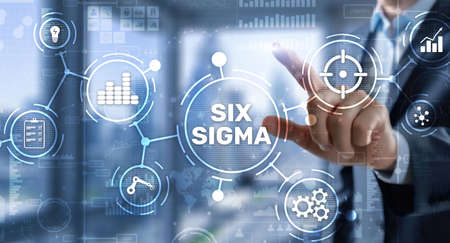 Six Sigma. Management concept aimed at improving the quality of work of an organization or a separate unit Фото со стока
