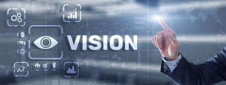 Vision Direction Future Business Inspiration Motivation Concept Фото со стока