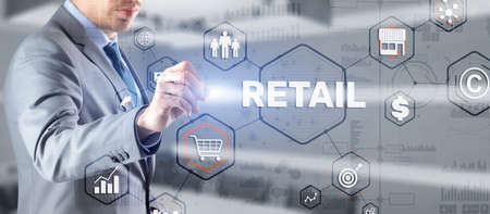 Smart retail and omni channel concept Фото со стока