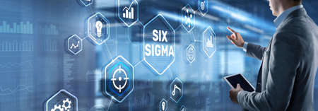 Six Sigma. Management concept aimed at improving the quality of work of an organization or a separate unit Reklamní fotografie
