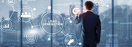 Lead Generation. Finding and identifying customers for your business products or services Reklamní fotografie