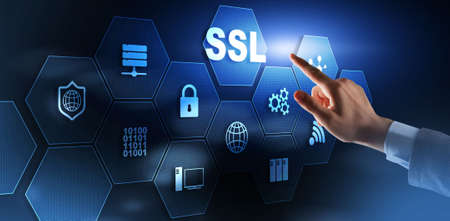 SSL Secure Sockets Layer concept. Cryptographic protocols provide secured communications