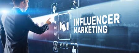 Influencer marketing concept. Business Internet concept 免版税图像