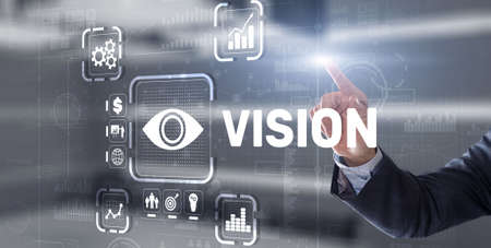 Vision Direction Future Business Inspiration Motivation Concept 免版税图像