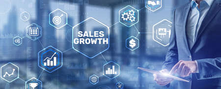 Business development to success and growing growth concept