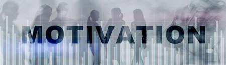 Inscription Motivation on horizontal background for your business 免版税图像