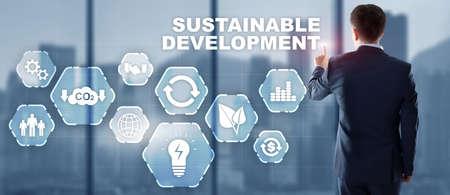 SDG - Sustainable Development Goals. Business Technology concept