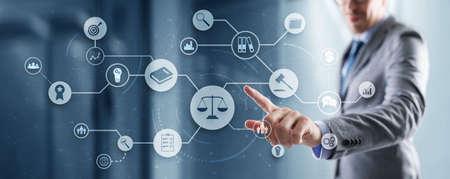 Law. Legal advice business concept on virtual screen 免版税图像