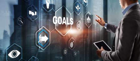Teamwork Goals Strategy Business Support Concept