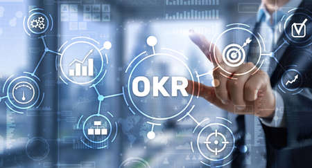 Objectives and Key Results OKR. Methods for project management 免版税图像