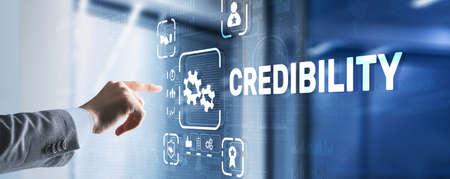 Credibility improvement. Modern business solution concept Stockfoto