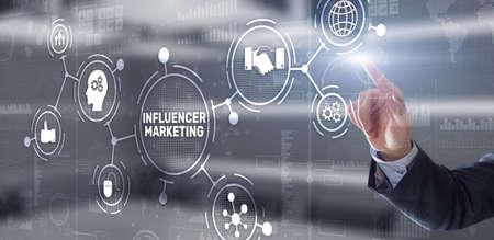 Influencer marketing concept. Business Internet concept Stockfoto