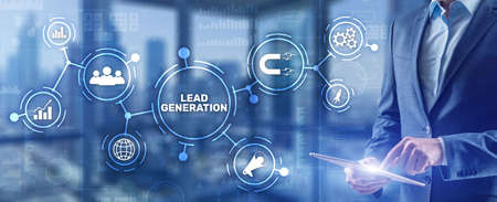 Lead Generation. Finding and identifying customers for your business products or services Stockfoto