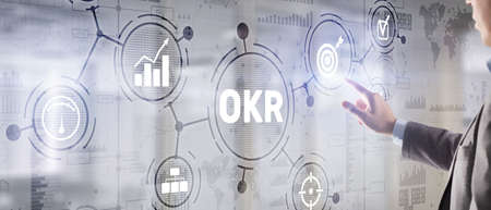 Objectives and Key Results OKR. Methods for project management Stockfoto