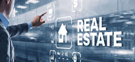 Real estate concept. Buying real estate for business or life