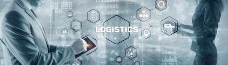 Global Logistics Business Cargo Air Rail transportation and maritime shipping