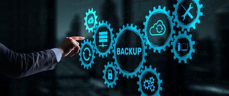 Backup Data Internet Technology Business concept On Virtual Screen Stockfoto