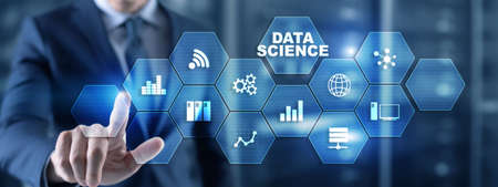 Data science analytics. Internet and technology concept concept