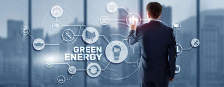 Green Energy Natural Ecology Power electric speed creative. Technology ecology concept 版權商用圖片