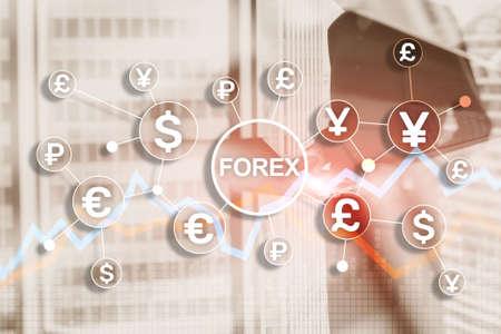 Blue Financial Forex Background. Trading trading stocks bonds