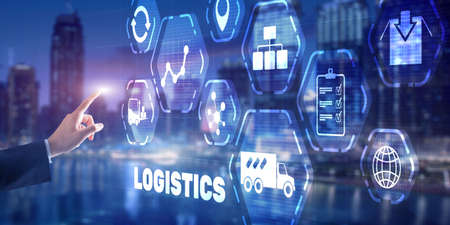 Logistic network distribution concept 2021. Smart technology