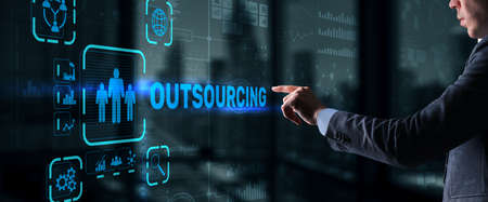 Outsourcing Business Human Resources Internet Finance Technology Concept