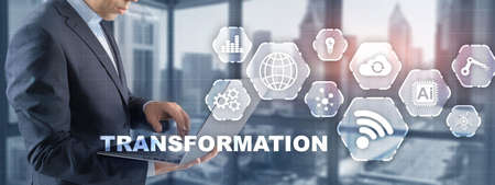 Digital transformation digitization of business processes and modern technology