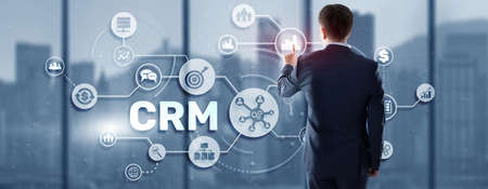 CRM Customer Relationship Management. Customer orientation concept. Care for employees