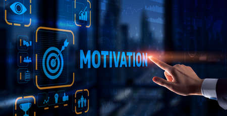 Motivation personality development concept. Achieving any goals