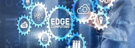 EDGE Computing technology internet concept. Mixed Media