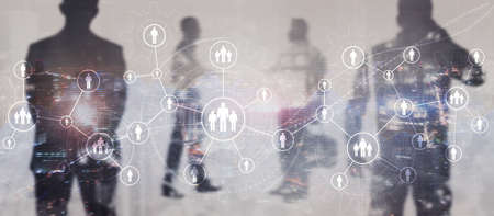 HR Human Resources Business concept mixed media 2022 版權商用圖片