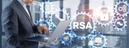 RSA. Cryptography and Network Security. Rivest Shamir Adleman cryptosystem 版權商用圖片