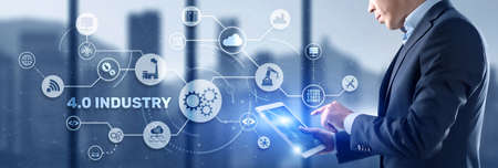 Industry 4.0 - The Fourth Industrial Revolution. Business Technology concept