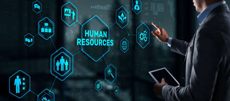 Modern Human Resources Hiring Job Occupation Concept. Business Technology
