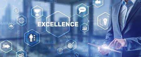 Business Excellence concept. Pursuit of excellence 2021 版權商用圖片