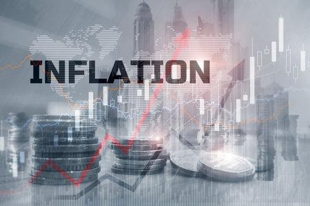 World economics and inflation control concept 版權商用圖片