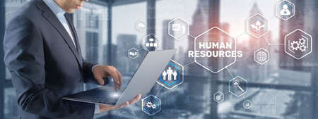 New Human resource management. HR. Team Building and recruitment concept