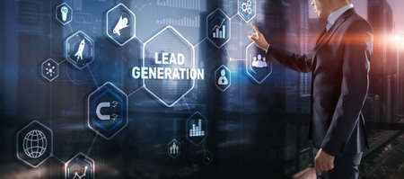 Lead Generation. Finding and identifying customers for your business products or services 版權商用圖片