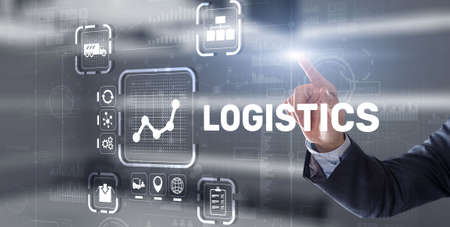 Logistic network distribution and transport concept. Goods delivery