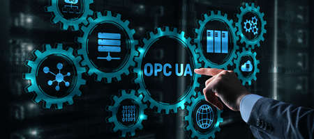 OPC Unified Architecture. Data Transmission in Industrial Networks concept 2021 版權商用圖片
