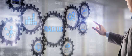 Radius. Remote Authentication in Dial In User Service. Telecommunications Networks Concept 版權商用圖片